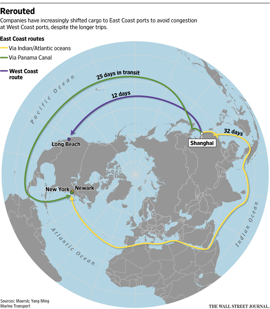 The Continuing Impact Of The West Coast Port Disruptions The - Us east coast ports map
