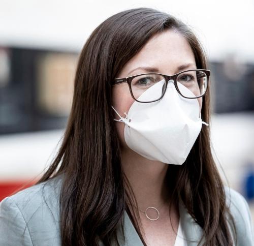 Produktion von den neuen Melitta Schutzmasken am 20. April 2020 in Minden.